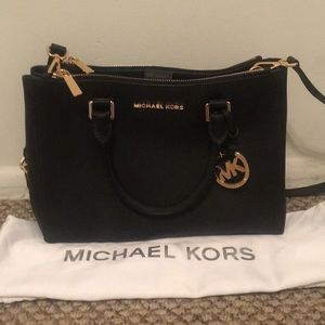 Michael Kors Sutton Leather Satchel